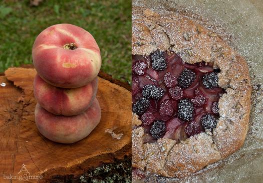 Weinbergpfirsich-Dinkel-Galette mit Beeren & Amaretto - Vineyard Peach Spelt-Galette with Berries & Amaretto