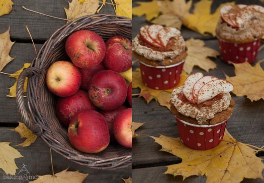 Apfel-Hazelnuss-Cupcakes, Apple Hazelnut Cupcakes, Muffins, Backen, Kuchen, Baking, Cake