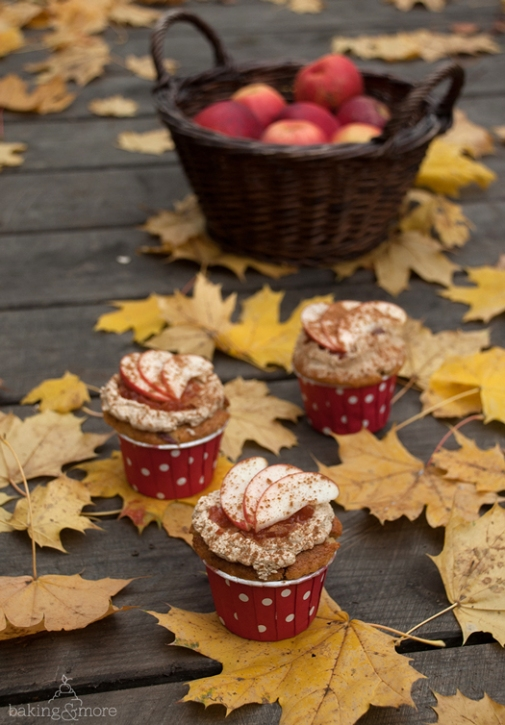 Apfel-Hazelnuss-Cupcakes, Apple Hazelnut Cupcakes, Muffins, Backen, Kuchen, Baking, Cake