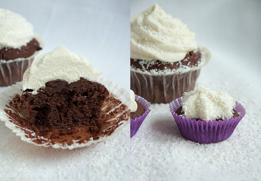 cupcakes, muffins, frosting, chocolate, schokolade, kokos, kokosnuss, coconut, cake, kuchen, backen, baking
