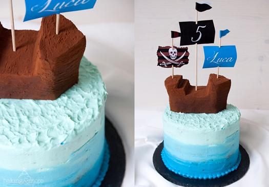 Piratentorte - Schokotörtchen mit einer Frischkäsecreme mit weißer Schokolade