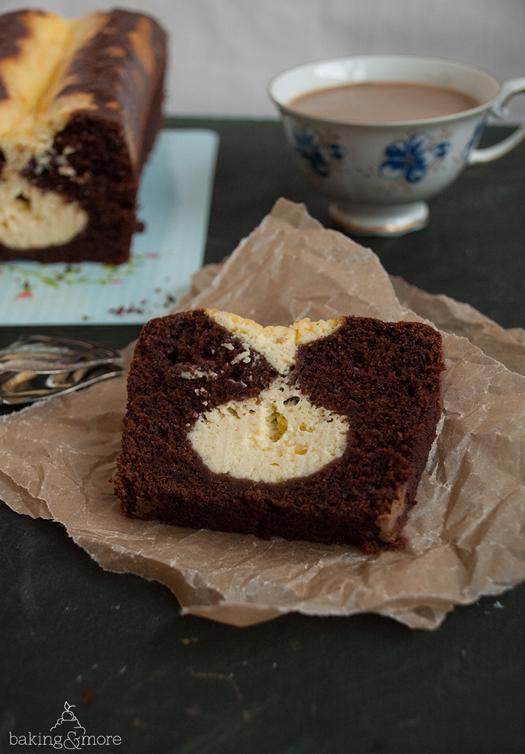 Schokokuchen mit cheesecake