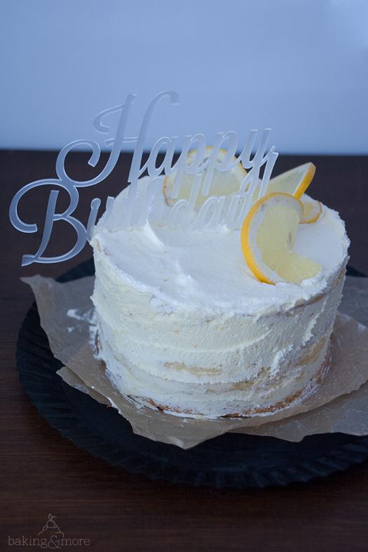 Zitronen-Cheesecake-Torte mit Lemon-Curd