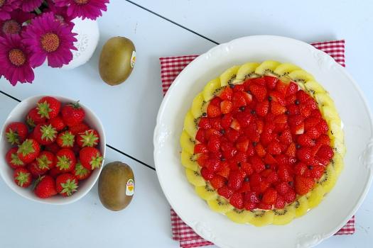 Erdbeeren im Melonenkleid