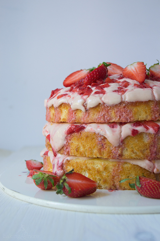 Erdbeer-Vanille-Torte - Strawberry Vanille Layer Cake